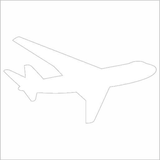 Samolepka Dopravní letadlo