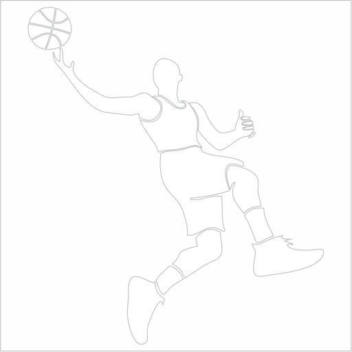 Samolepka Basketbalista