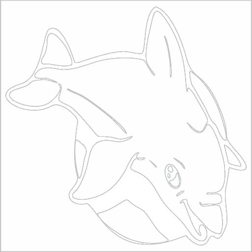 Samolepka Delfín