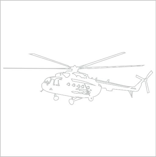 Samolepka Vrtulník