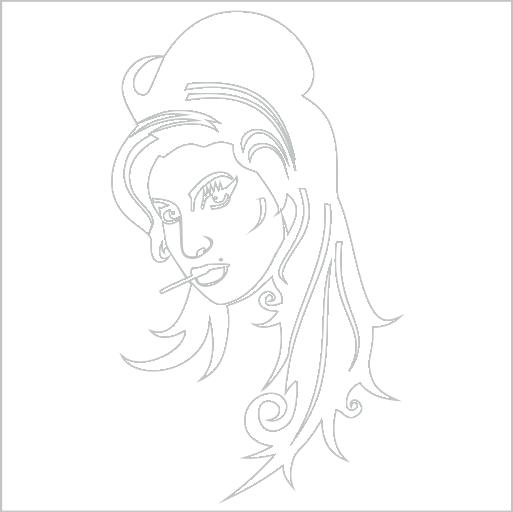 Samolepka Amy Winehouse