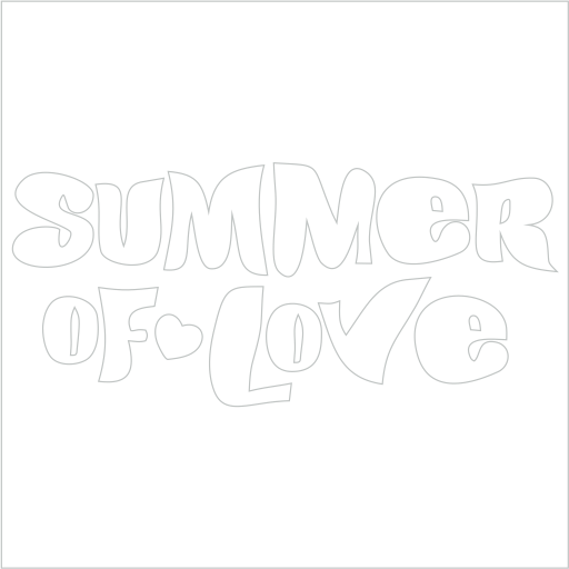 Samolepka Summer of love