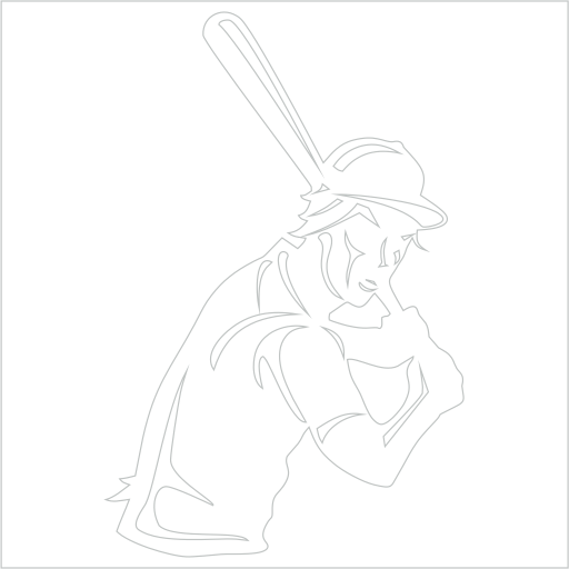 Samolepka Baseballista