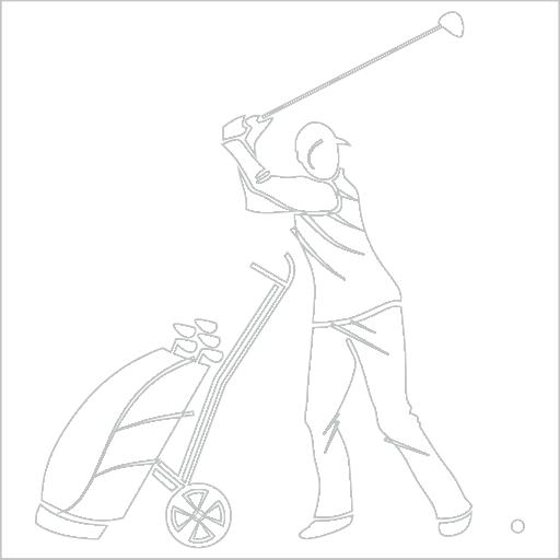 Samolepka Golfista