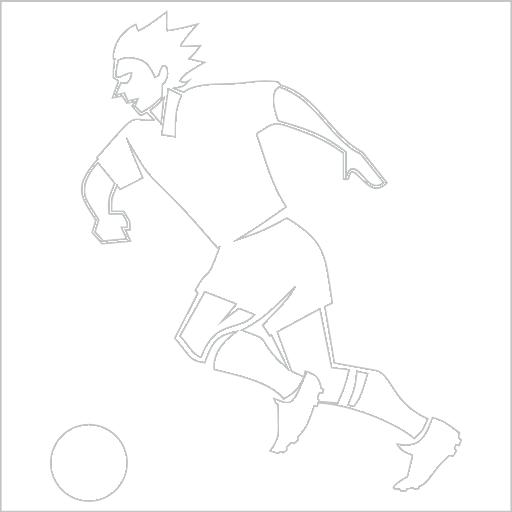 Samolepka Fotbalista