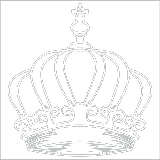 Samolepka Královská koruna