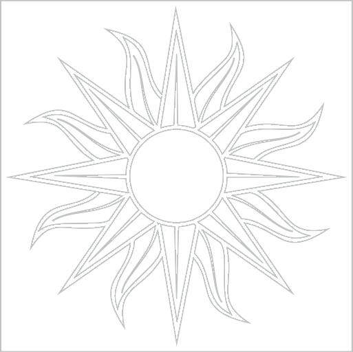 Samolepka Slunce