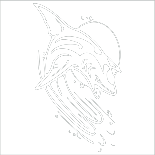 Samolepka Žralok