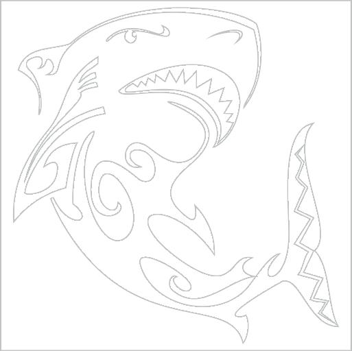 Samolepka Žralok tetování - zvìtšit obrázek