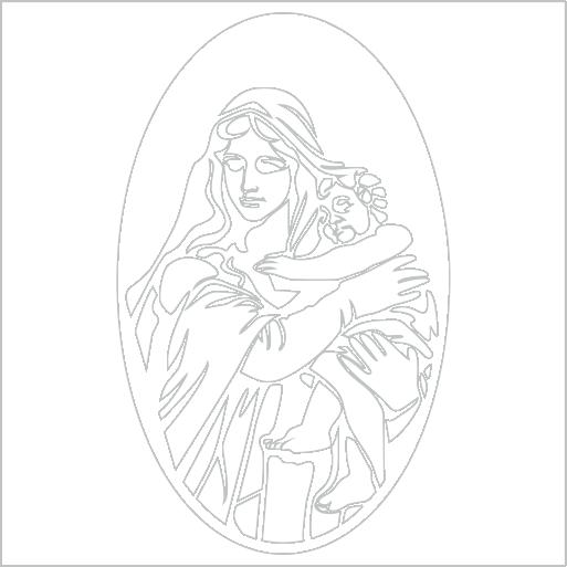 Samolepka Panna Marie