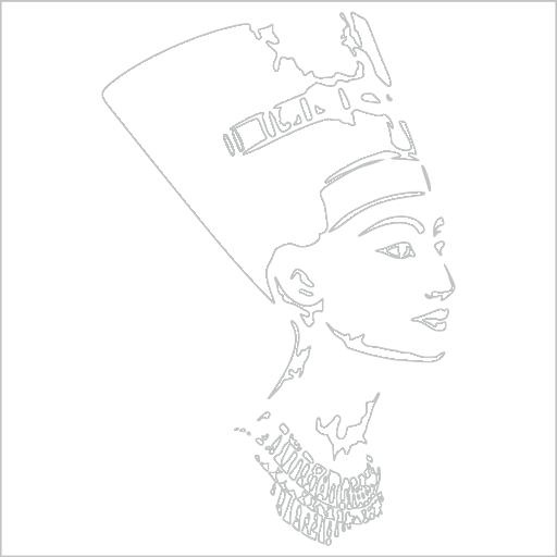 Samolepka královna Nefertiti