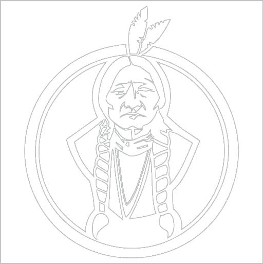 Samolepka Indián