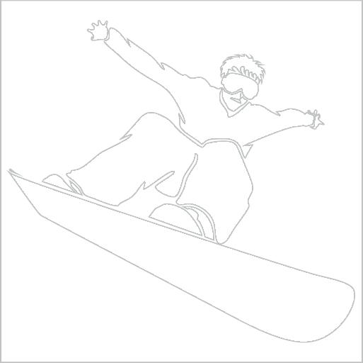 Samolepka Snowboardista - zvìtšit obrázek