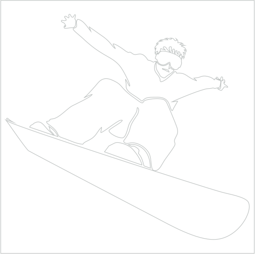 Samolepka Snowboardista