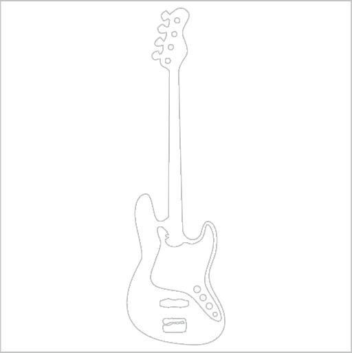 Samolepka Elektrická kytara