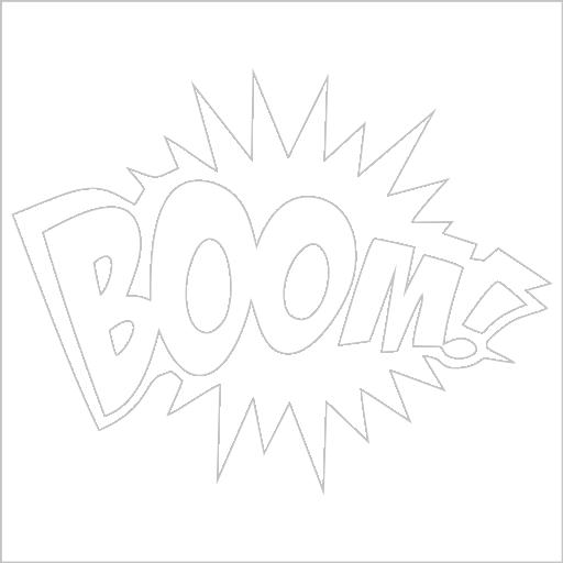 Samolepka Boom