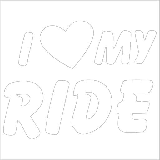Samolepka I love my ride - zvìtšit obrázek