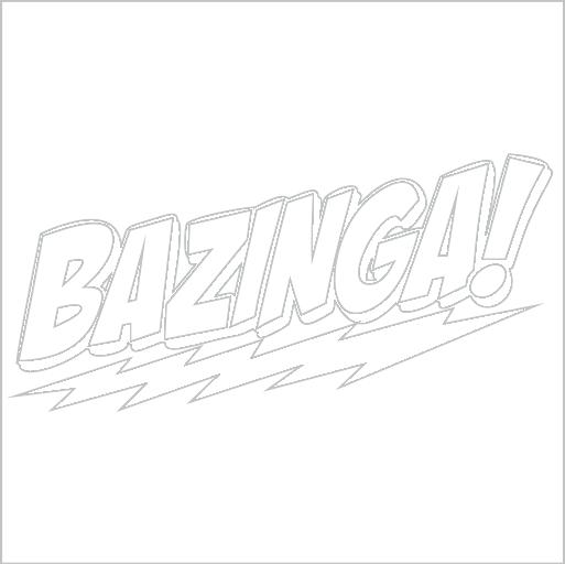 Samolepka Bazinga - zvìtšit obrázek
