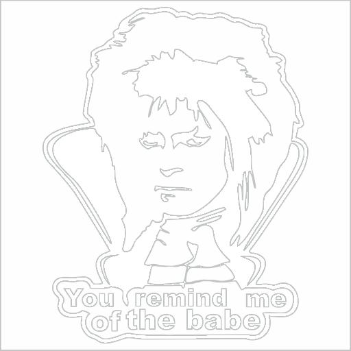Samolepka David Bowie - zvìtšit obrázek