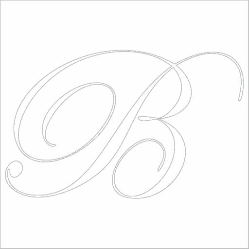Samolepka Písmeno B