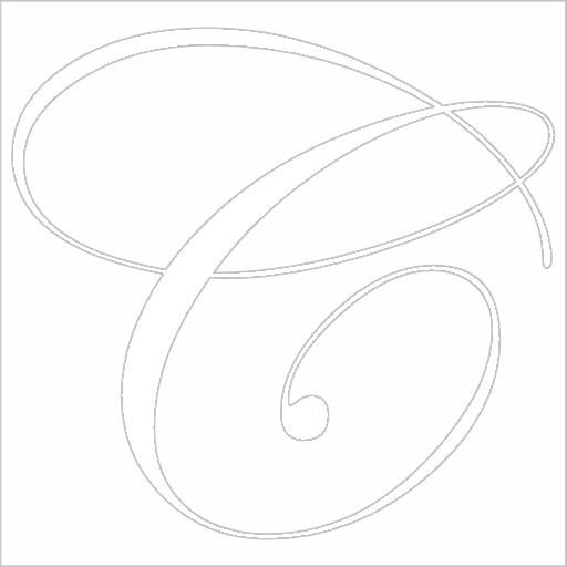 Samolepka Písmeno C