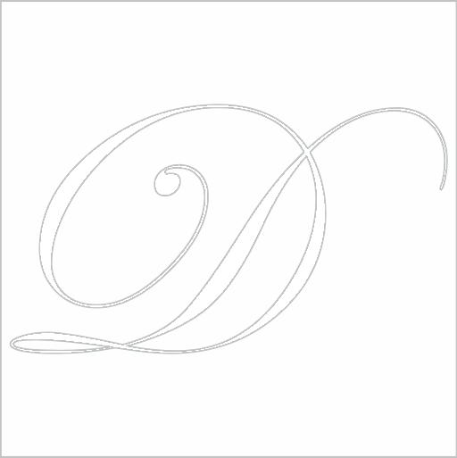 Samolepka Písmeno D