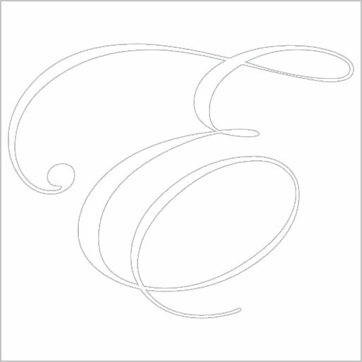 Samolepka Písmeno E - zvìtšit obrázek
