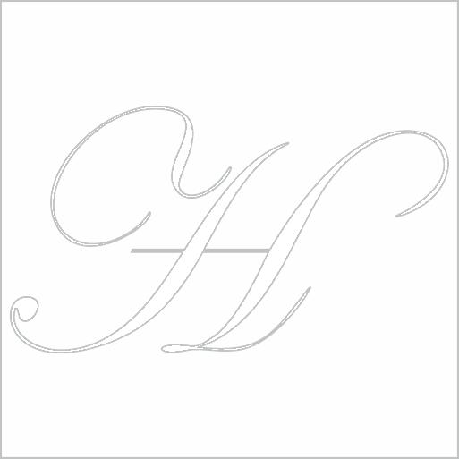 Samolepka Písmeno H