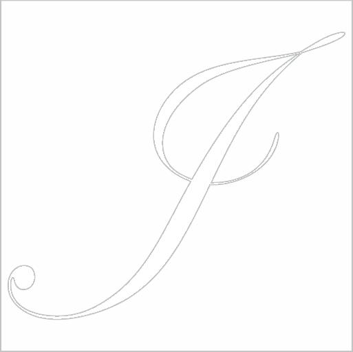 Samolepka Písmeno J
