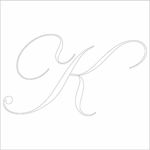 Samolepka Písmeno K