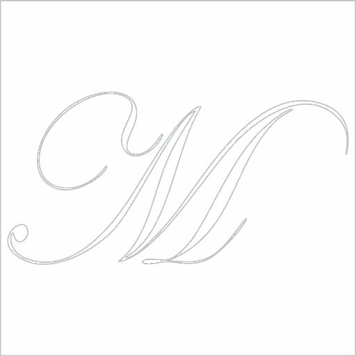Samolepka Písmeno M