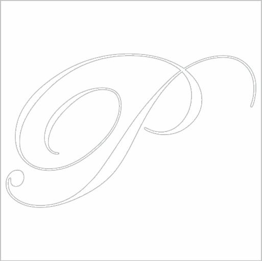 Samolepka Písmeno P