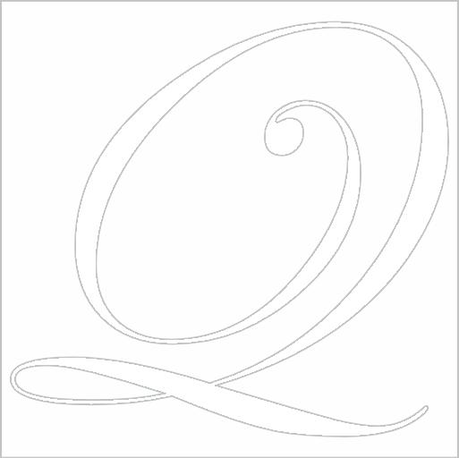 Samolepka Písmeno Q