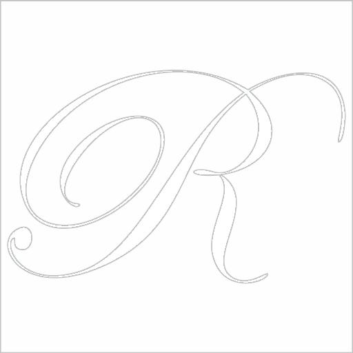 Samolepka Písmeno R