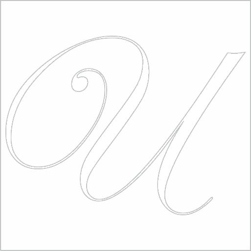 Samolepka Písmeno U