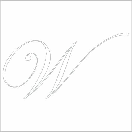 Samolepka Písmeno W