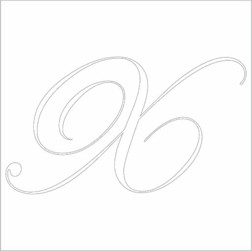 Samolepka Písmeno X