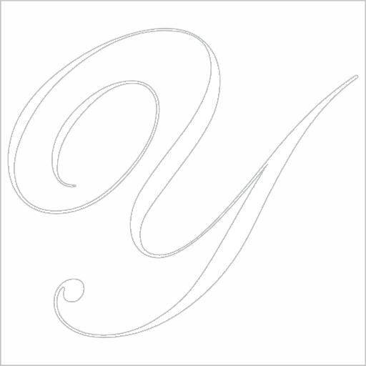Samolepka Písmeno Y
