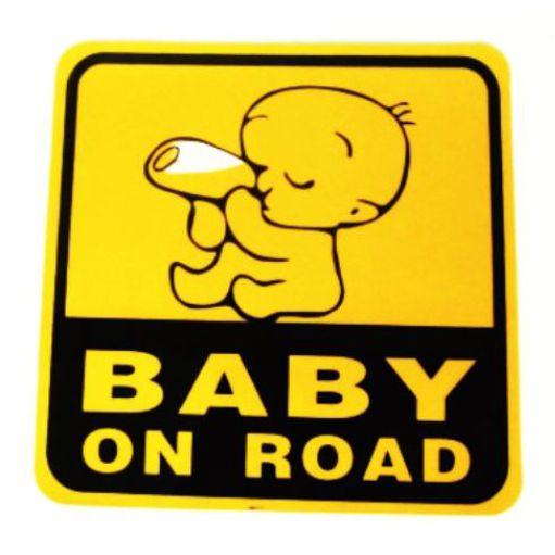 Samolepka Dítì v autì - reflexní tištìná - zvìtšit obrázek