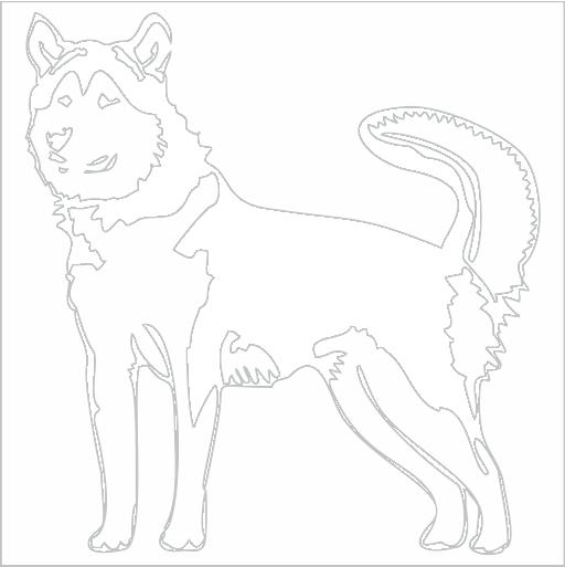 Samolepka Aljašský malamut