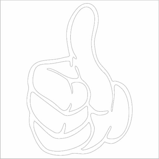 Samolepka Ruka - palec nahoru - zvìtšit obrázek