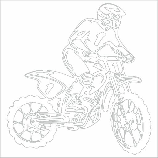 Samolepka Motocross - zvìtšit obrázek