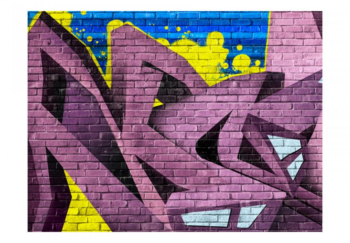 Dìtská fototapeta Graffiti fialové