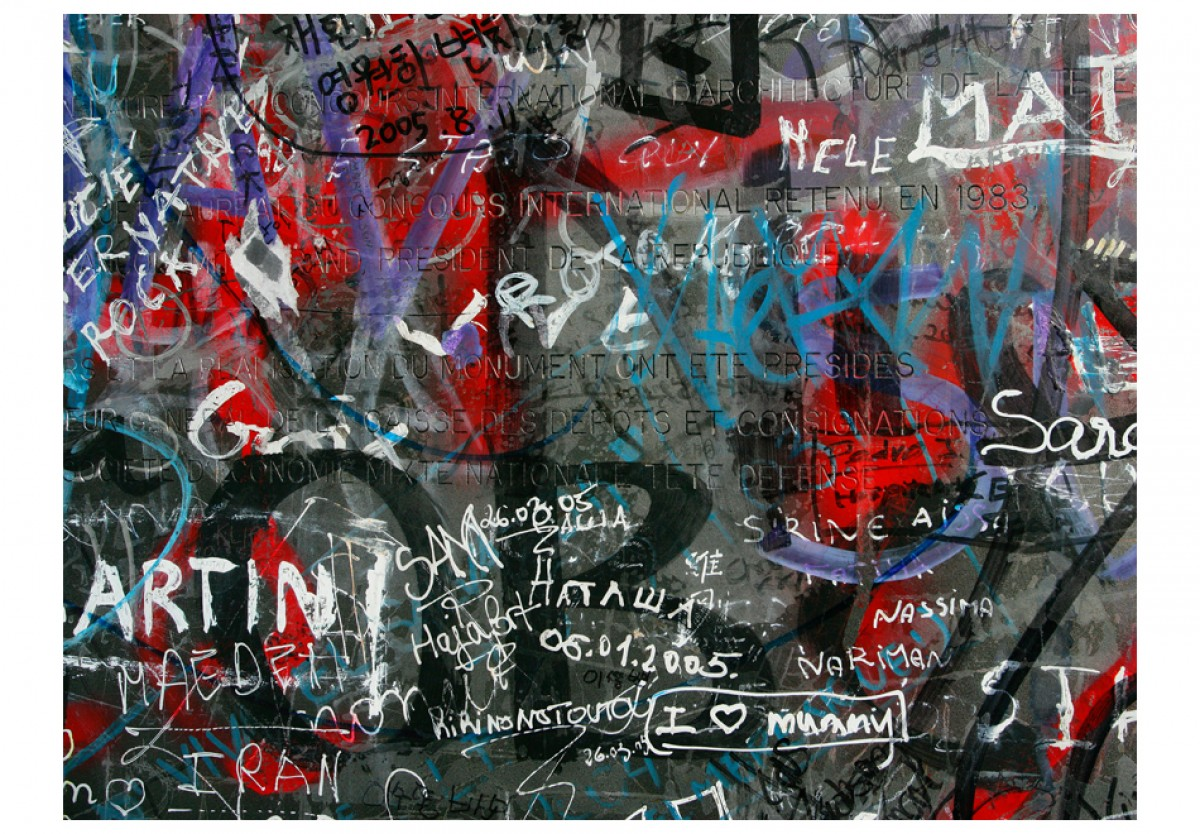 Dìtská fototapeta Retro graffiti - zvìtšit obrázek