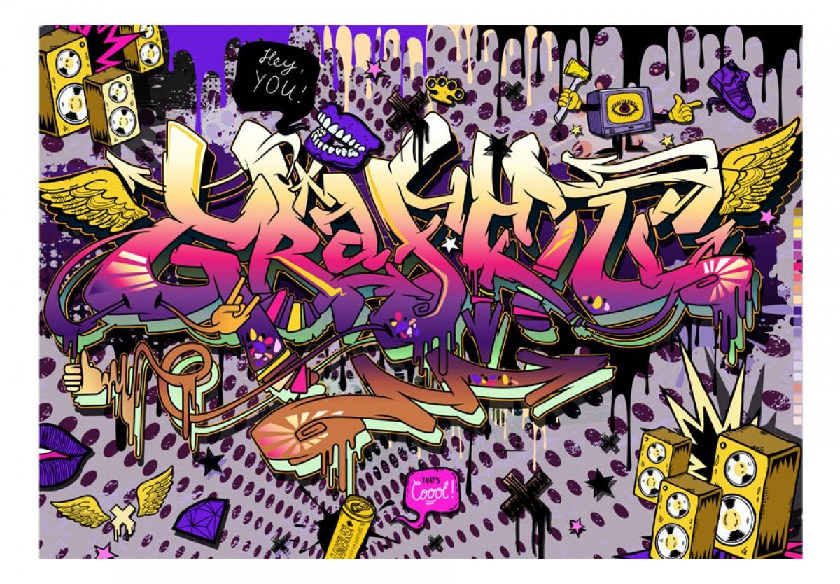 Dìtská fototapeta Ahoj graffiti
