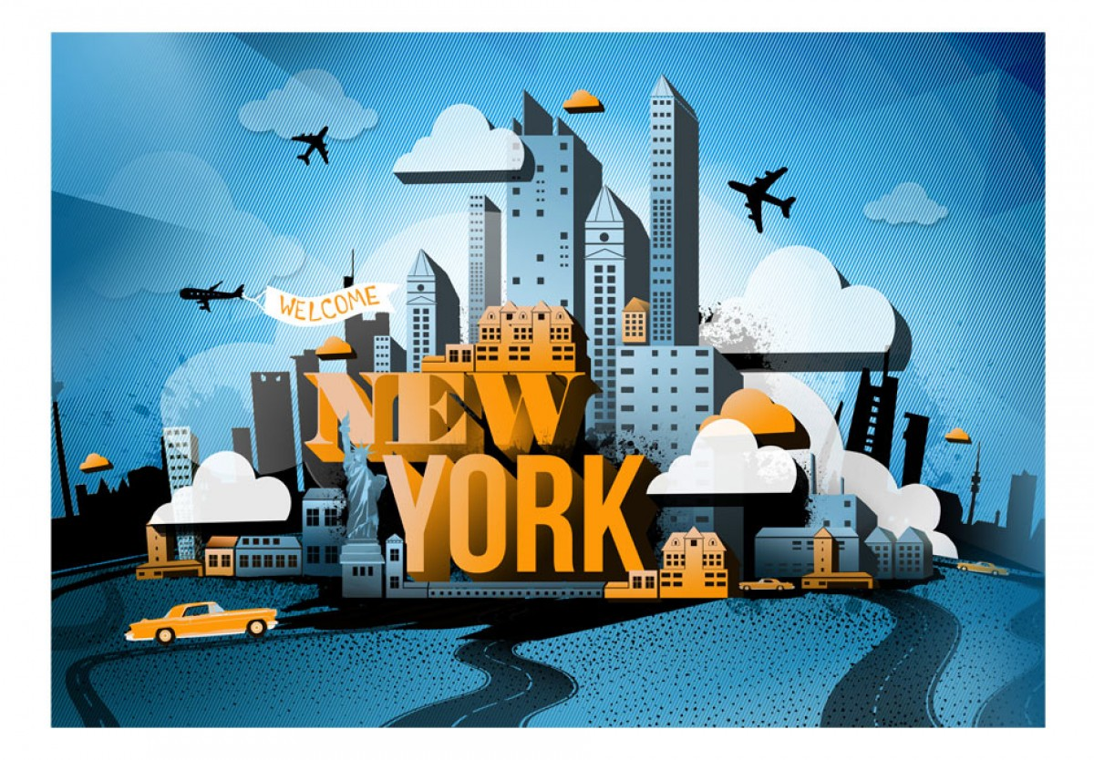 Dìtská fototapeta New York - zvìtšit obrázek