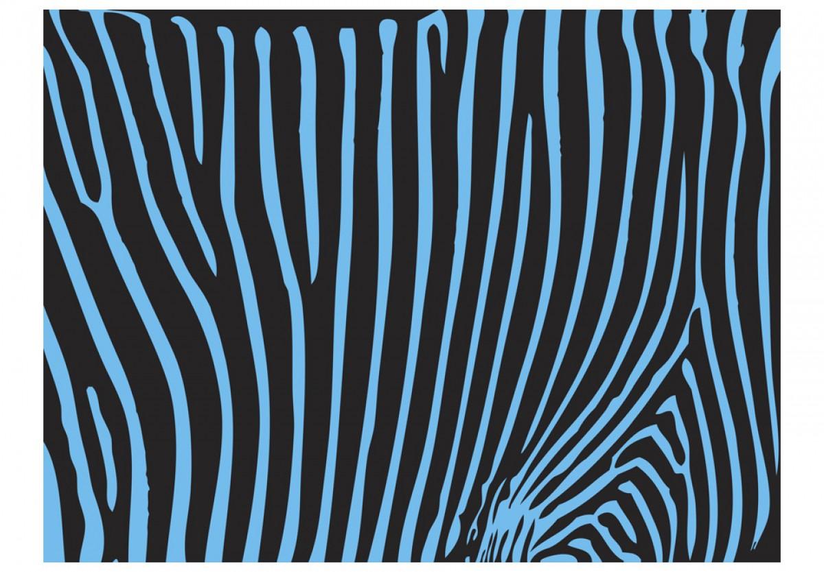 Dìtská fototapeta Tyrkysová zebra - zvìtšit obrázek