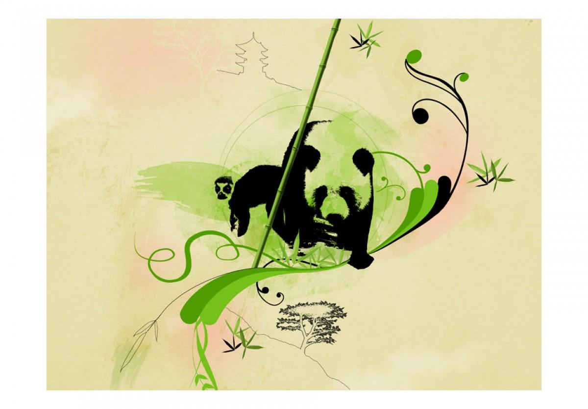 Dìtská fototapeta Panda v bambusovém lese - zvìtšit obrázek