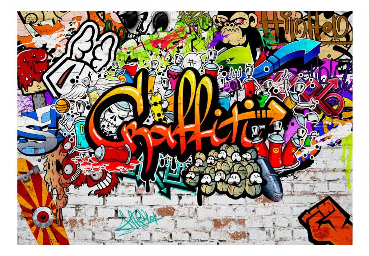 Dìtská fototapeta Barevné graffiti