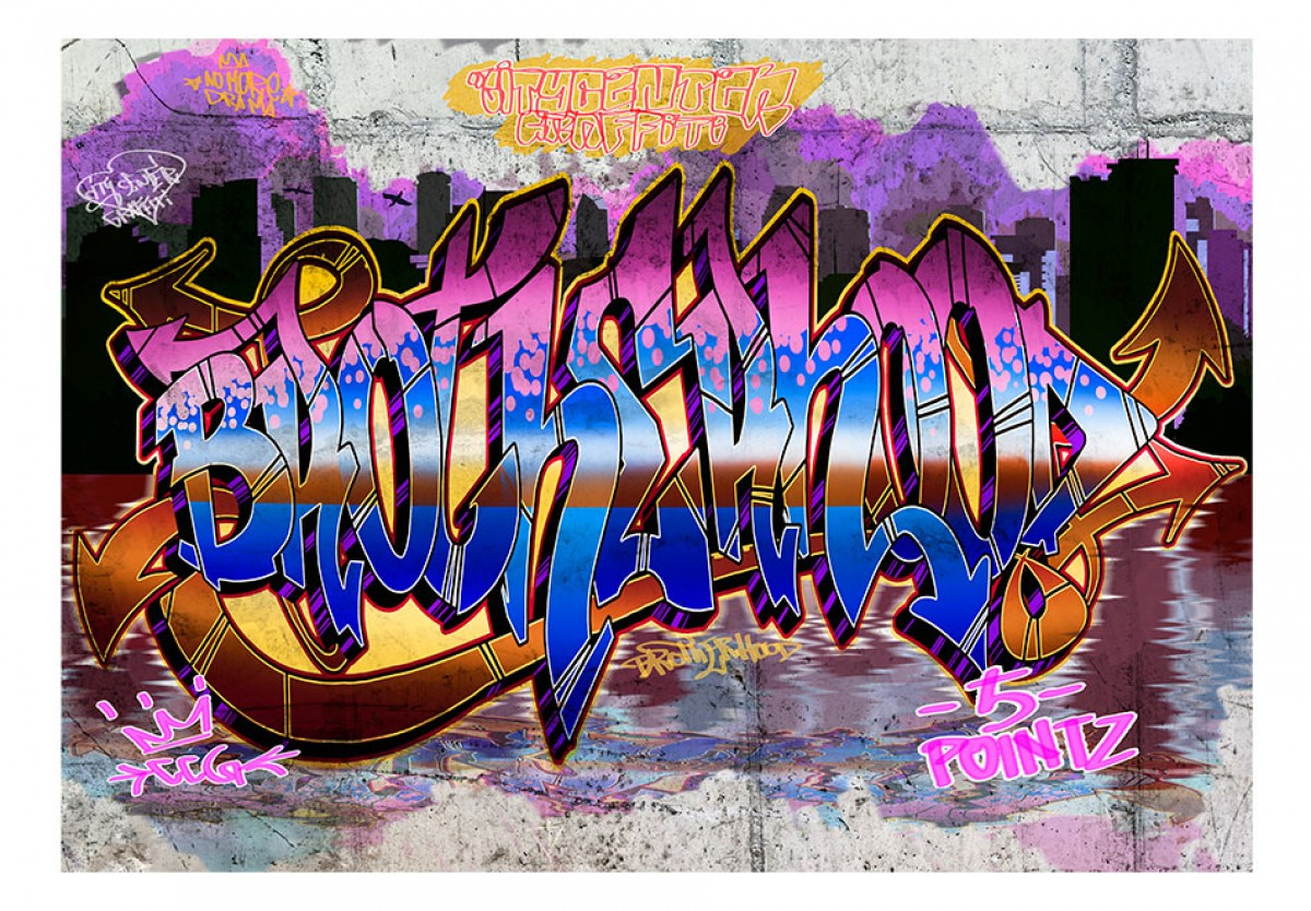 Dìtská fototapeta Barevné graffiti 2 - zvìtšit obrázek